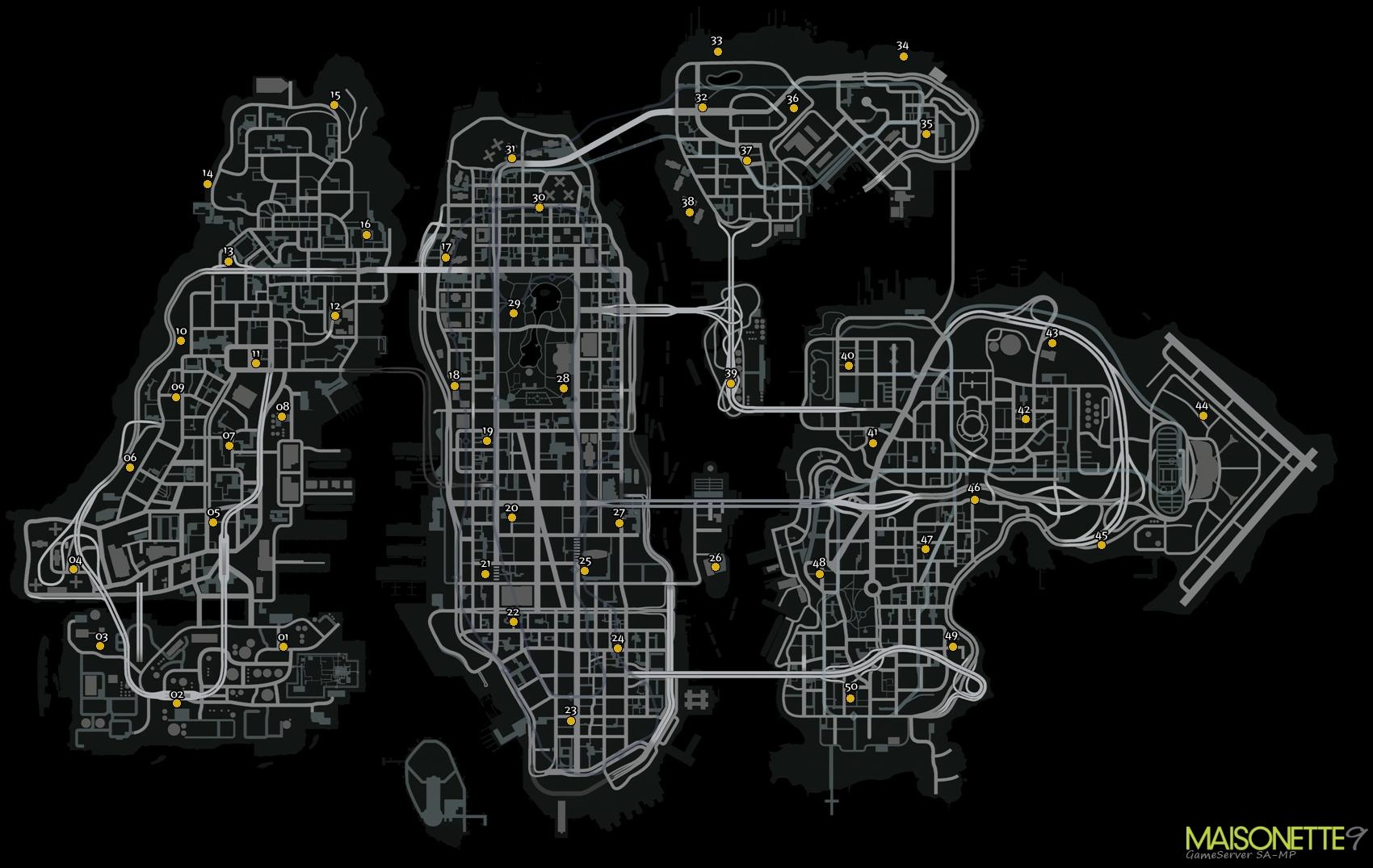 Карта 50 чаек для GTA 4 TLaD